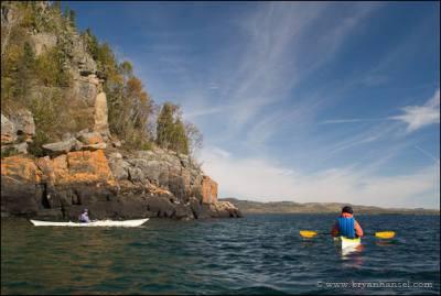 Kayaking past Hat Point.