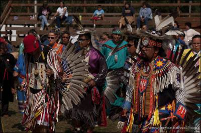 Dancers at the Grand Portage Pow Wow