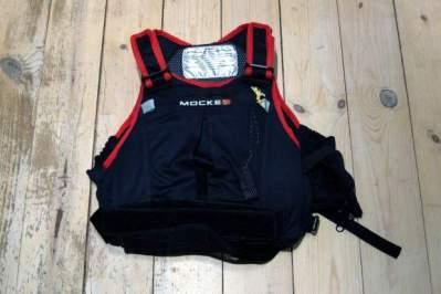 Mocke Raver PFD in black and red.