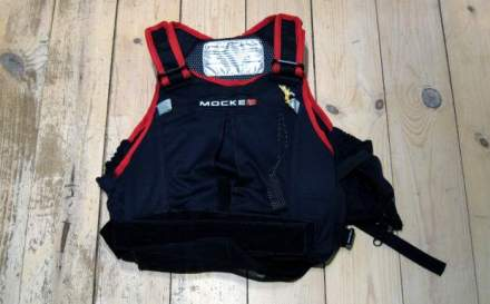 Mocke Raver PFD in black and red.