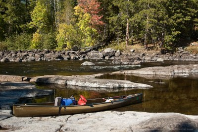 Start of a Boundary Waters portage.