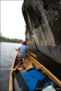 Canoeing with a Cooke Custom Sewing pack in the boat.