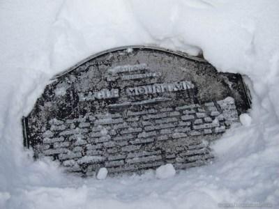 Eagle Mountain's summit plaque.
