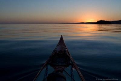 Paddling Zen in a kayak