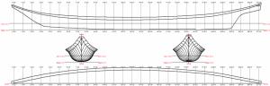 Coast Salish Style Canoe line plan