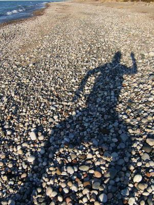 Tim Gallaway on the beach