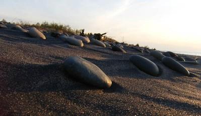 rocks on a Lake Superior beach