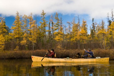 Dave and Amy on the Boundary Waters Border Route