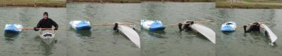 Using the boat and paddle to practice Storm Roll
