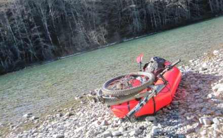 Packrafting and Fatbiking