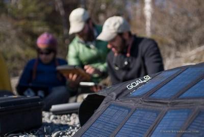 Goal Zero solar panel on Expedition