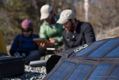 Goal Zero solar panel on Expedition