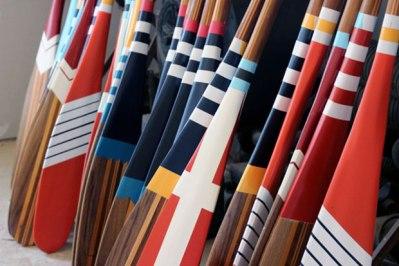 painted canoe paddles