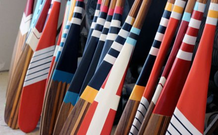 painted canoe paddles