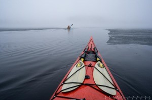 kayaking Brule Lake in the BWCA near ice