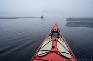 kayaking Brule Lake in the BWCA near ice