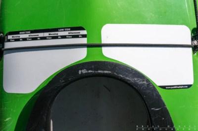 Deck slates applied to a kayak