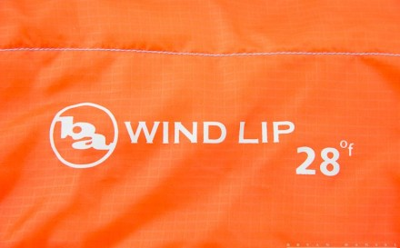 the Big Agnes Wind Lip Sleeping bag logo