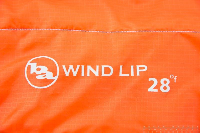 the Big Agnes Wind Lip Sleeping bag logo