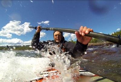 comfort paddling tuilik in rough water