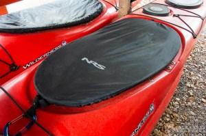 nrs cockpit cover on a kayak