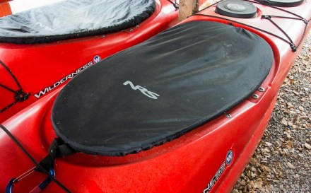 nrs cockpit cover on a kayak