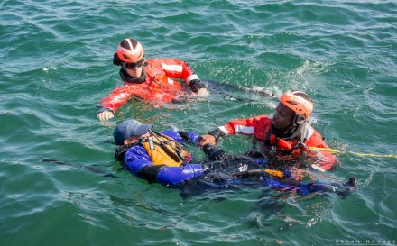 coast guard rescues a sea kayaker