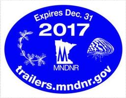 Minnesota aquatic invasive species trailer sticker