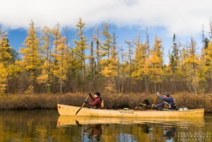 Dave and Amy Freeman paddle in the BWCAW.
