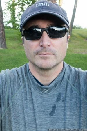 wearing the watson merino long underwear for kayaking.