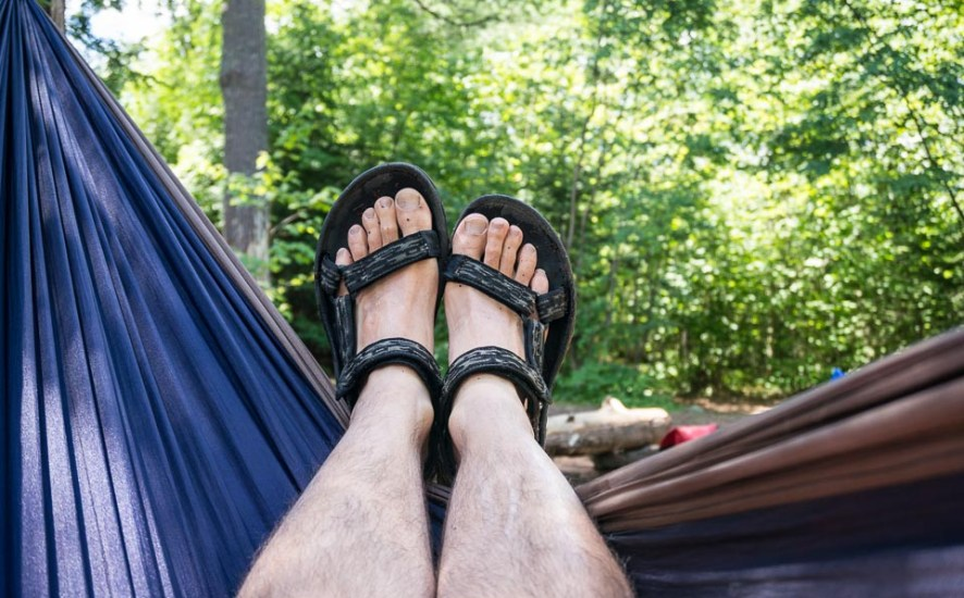 wearing sandals in the bwca