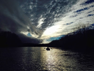 paddling the Roanoke River