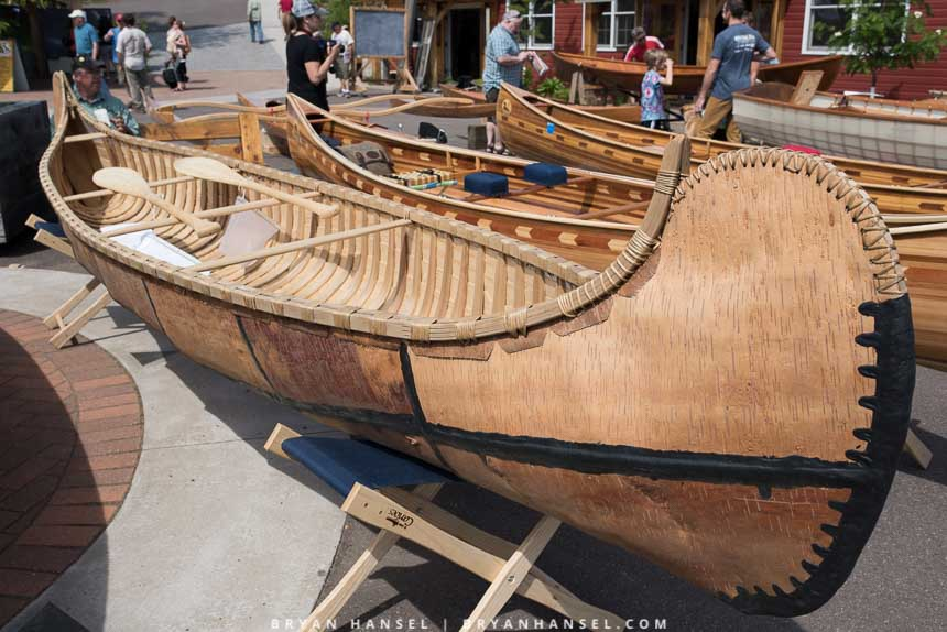 Bark canoe built in the traditional way