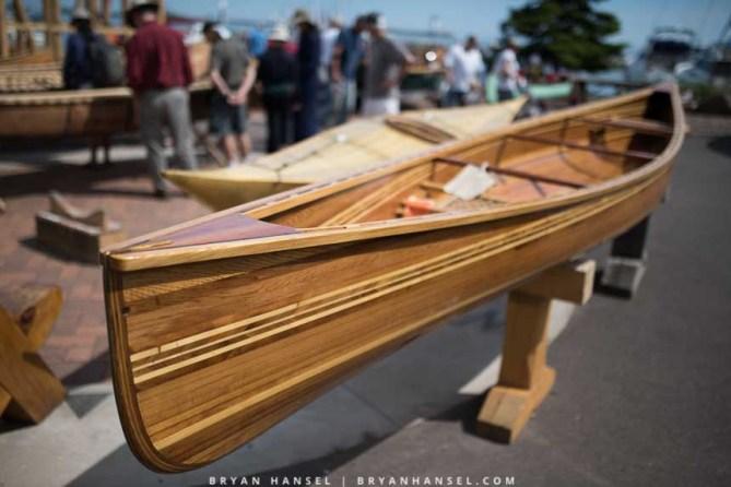 Nice feature strip on a cedar strip canoe