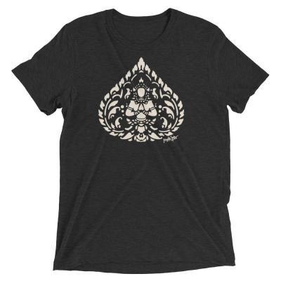 mockup on the Mana Loa Cambodian Buddha T-shirt