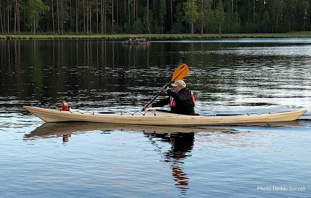 siskiwit bay kayak on the water