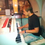 Paddy playing piano in London