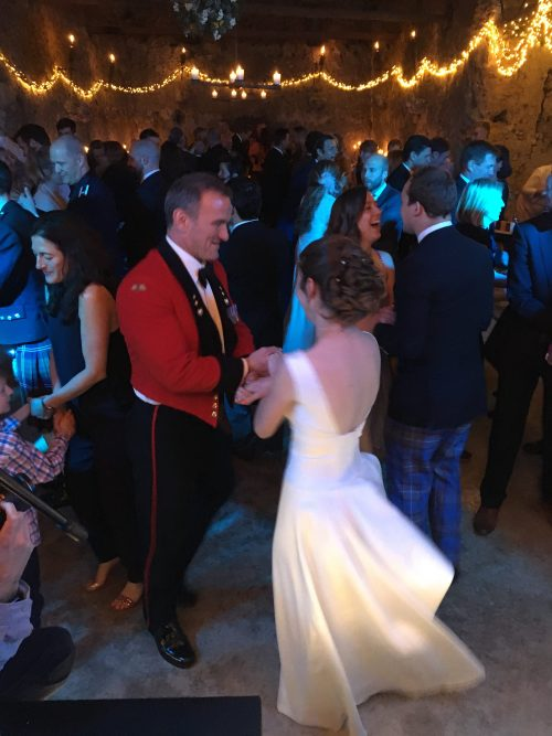 Wedding Barn Dance at Higher Eggbeer Devon