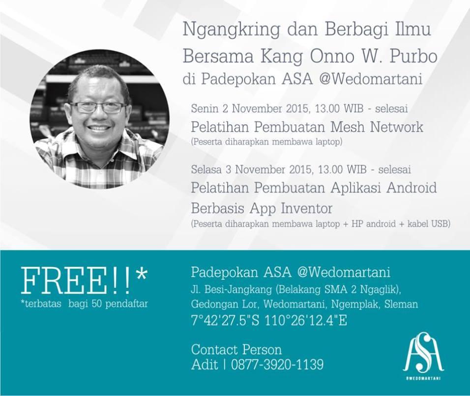 Kumpulan Poster Kegiatan Padepokan ASA November 2015