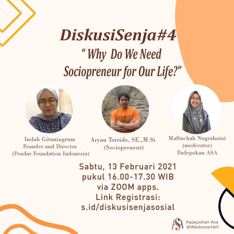 Diskusi Senja #4: Why Do We Need Sociopreneur for Our Life?
