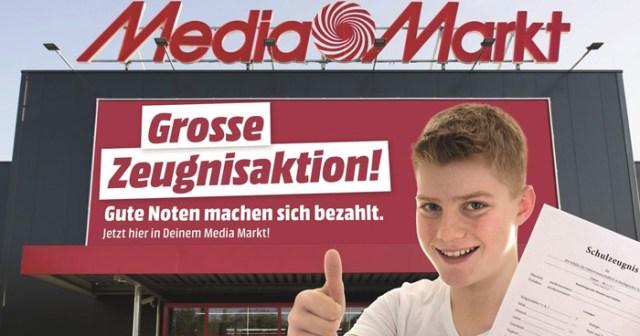Media Markt Paderborn Zeugnisgeld Zeugnisaktion Geld für Gute Noten