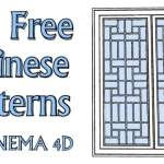 330 Free Chinese Patterns for Cinema 4D