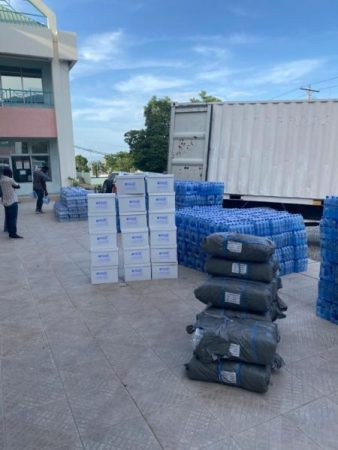 PADF supplies in route to Cayes.