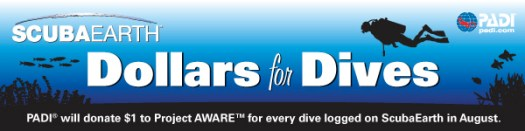 Dollars for Dives ScubaEarth Project AWARE promotion
