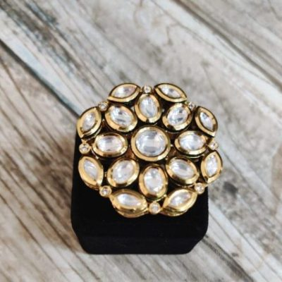 big kundan rings