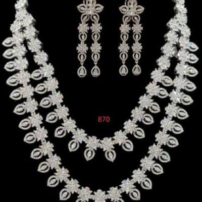 American Diamond Necklace Set Wholesale