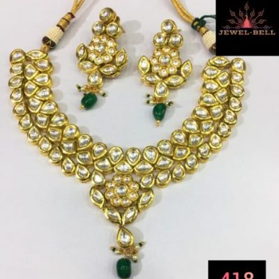 kundan necklace with different pearls colour