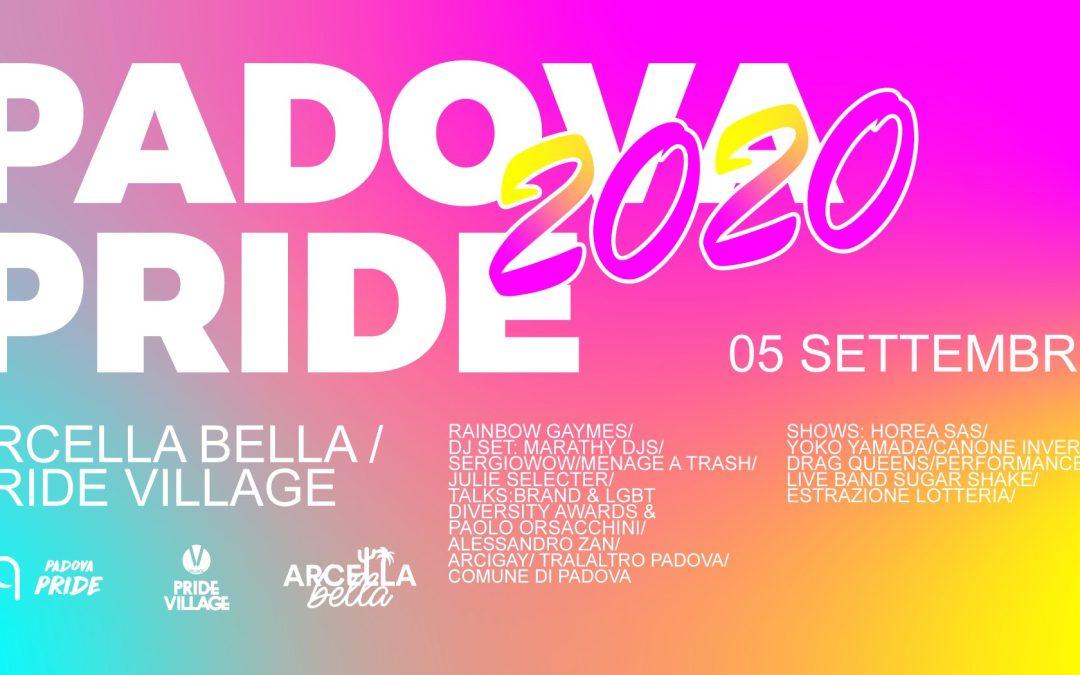CS Padova Pride 2020  – Sabato 5 settembre torna il Pride a Padova