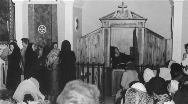 Padre Pio i biktstolen