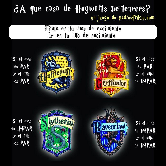 A qué casa de Hogwarts perteneces